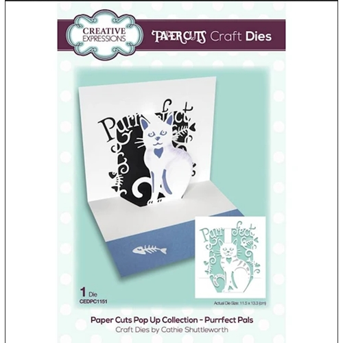 Creative Expressions Purrfect Pals Pop Up Die