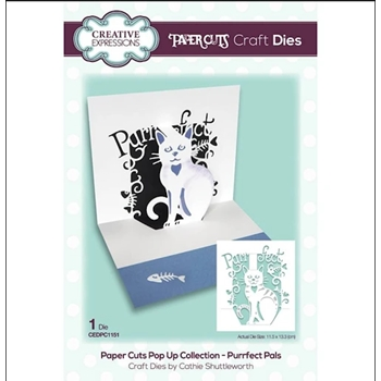 Creative Expressions PURRFECT PALS Paper Cuts Pop Up Die cedpc1151