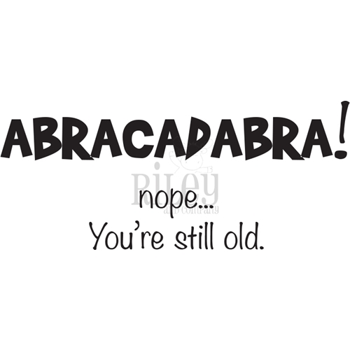 Riley And Company Funny Bones ABRACADABRA Cling Rubber Stamp RWD 886 Preview Image