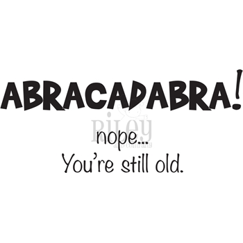 Riley And Company Funny Bones ABRACADABRA Cling Rubber Stamp RWD 886