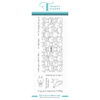 Trinity Stamps SLIMLINE BUNNIES Clear Stamp Set tps111