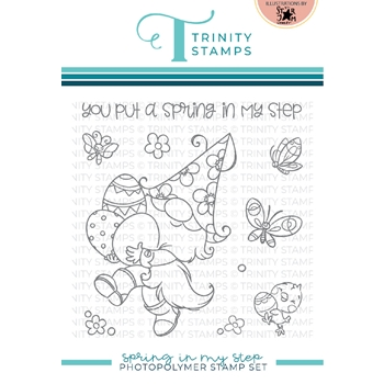 Trinity Stamps SPRING IN MY STEP Clear Stamp Set tps115