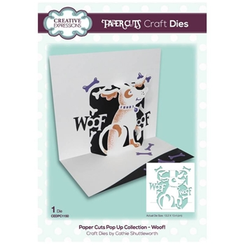 Creative Expressions WOOF Paper Cuts Pop Up Die cedpc1150
