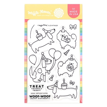 Waffle Flower BIRTHDAY PUPPIES Clear Stamps 420543
