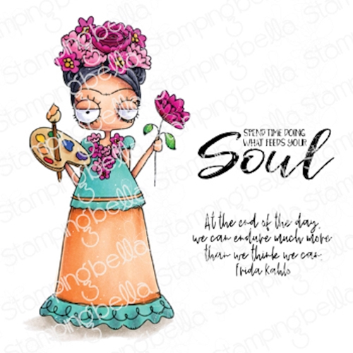Stamping Bella Cling Stamps ODDBALL FRIDA eb1008 Preview Image