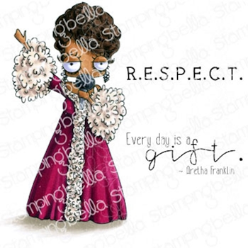 Stamping Bella Cling Stamps ODDBALL ARETHA eb1011