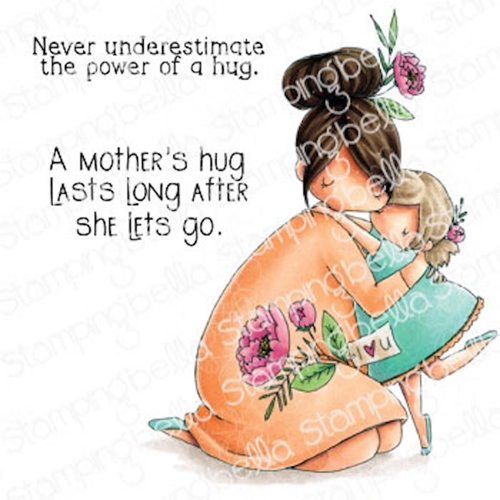 Stamping Bella Cling Stamps CURVY GIRL BIG HUG eb1019 Preview Image