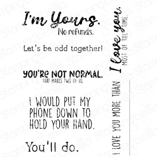 Stamping Bella Cling Stamps ODD TOGETHER SENTIMENT SET eb1034 Preview Image