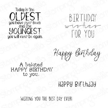 Stamping Bella Cling Stamps HAPPY BIRTHDAY TO YOU SENTIMENT SET eb1035