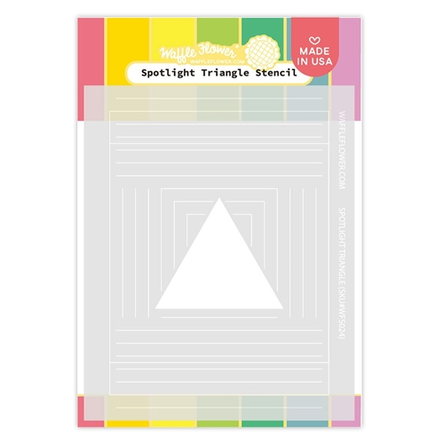 Waffle Flower SPOTLIGHT TRIANGLE Stencil WFS024 Preview Image