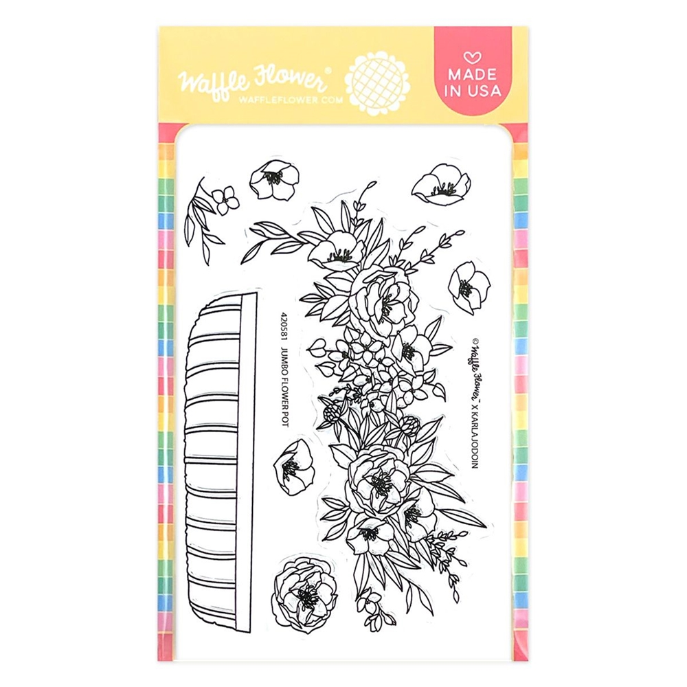 Waffle Flower JUMBO FLOWER POT Clear Stamps 420581 zoom image
