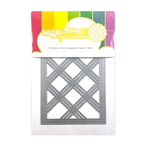 Waffle Flower TRIPLE LINE DIAMOND PANEL Die 420586 Preview Image