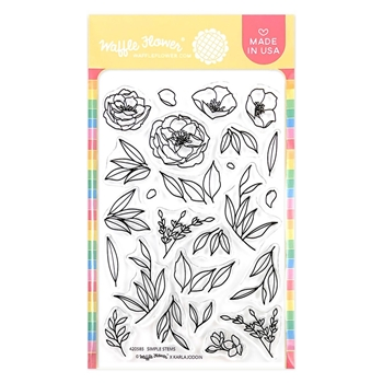 Waffle Flower SIMPLE STEMS Clear Stamps 420585