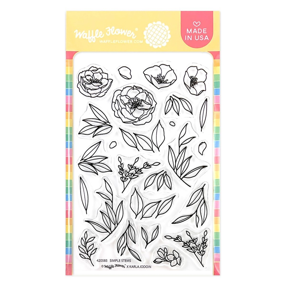 Waffle Flower SIMPLE STEMS Clear Stamps 420585 zoom image