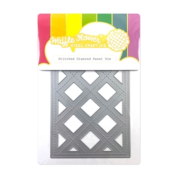 Waffle Flower STITCHED DIAMOND PANEL Die 420588