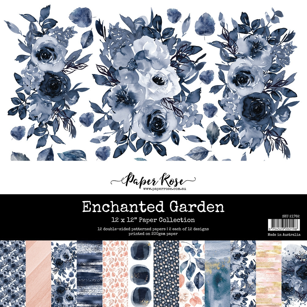 Paper Rose ENCHANTED GARDEN 12x12 Paper Pack 21762 ** zoom image