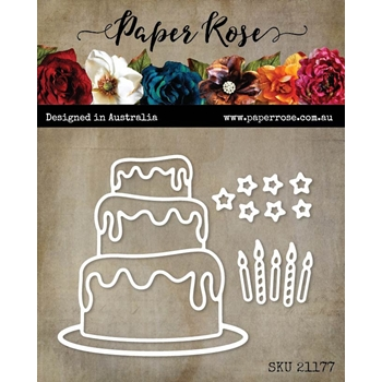 Paper Rose BIRTHDAY CAKE Dies 21177