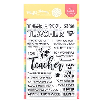 Waffle Flower TEACHER Clear Stamps 420593