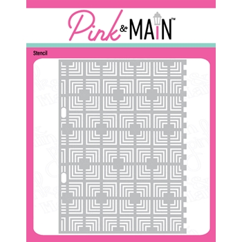 Pink and Main THE MAZE Stencil PMS051