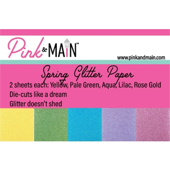 Pink and Main SPRING GLITTER 6 x 6 Paper Pad PMP049