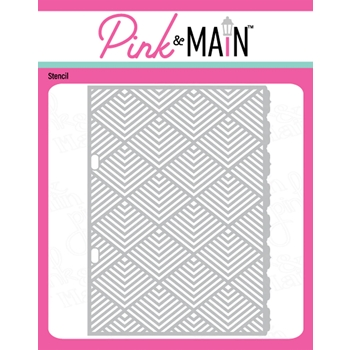 Pink and Main PYRAMIDS Stencil PMS052