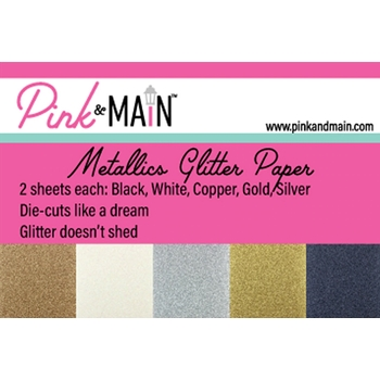 Pink and Main METALLICS GLITTER 6 x 6 Paper Pack PMP048