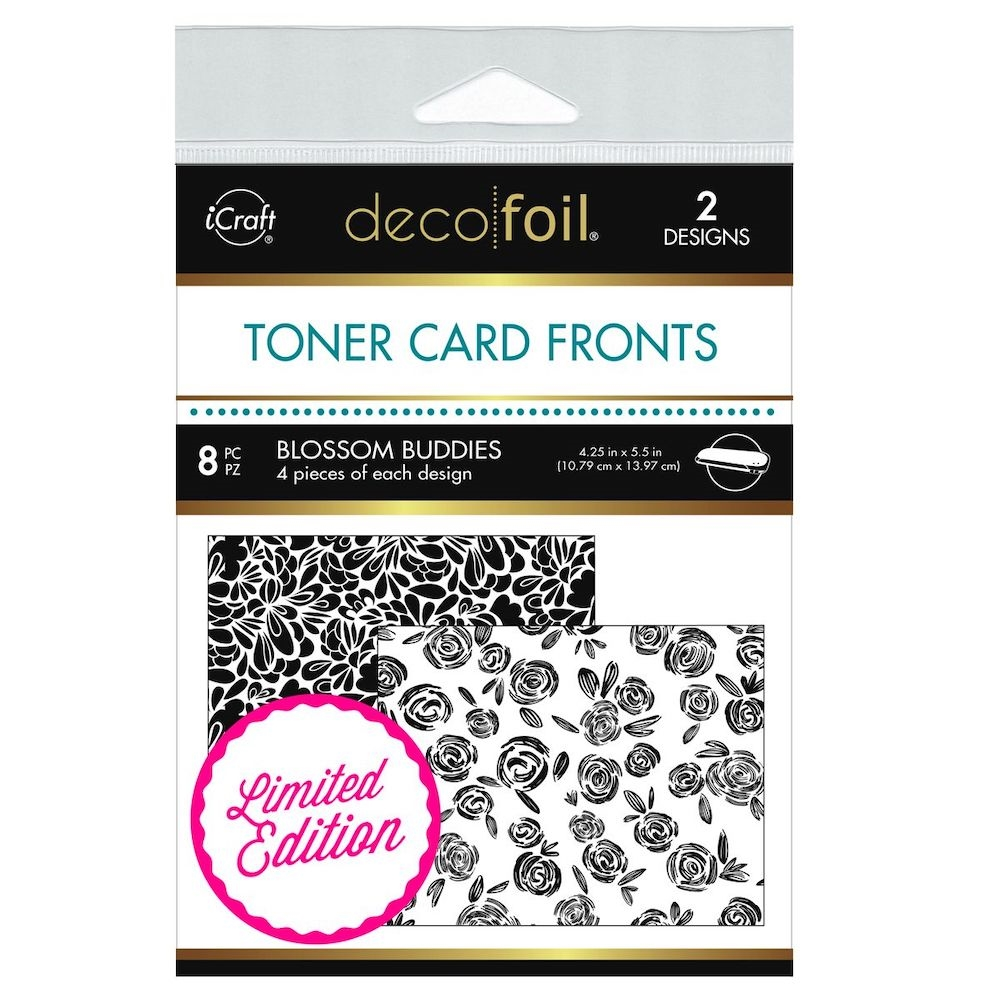 Therm O Web Limited Edition Deco Foil BLOSSOM BUDDIES White Toner Card Fronts 5612 zoom image