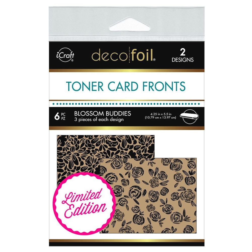 Therm O Web Limited Edition Deco Foil BLOSSOM BUDDIES Kraft Toner Card Fronts 5613 zoom image