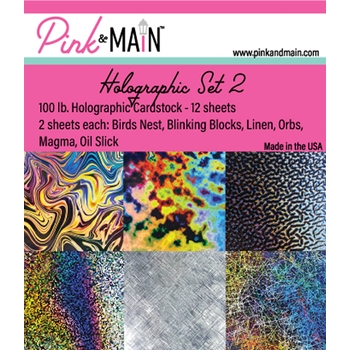 Pink and Main HOLOGRAPHIC CARDSTOCK Set 2 PMP047