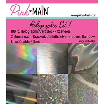 Pink and Main HOLOGRAPHIC CARDSTOCK Set 1 PMP046