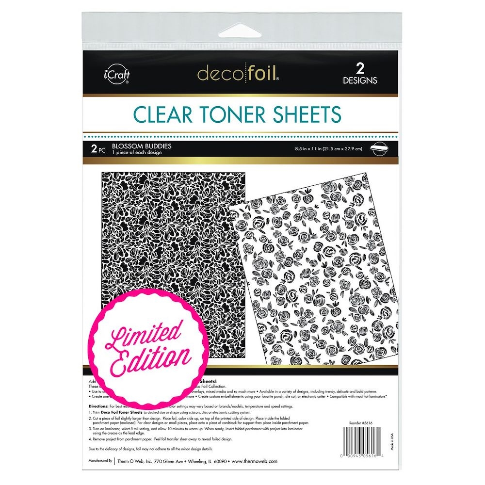 Therm O Web Limited Edition Deco Foil BLOSSOM BUDDIES Toner Sheets 5616 zoom image