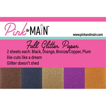 Pink and Main FALL GLITTERY 6 x 6 Paper Pack PMP052