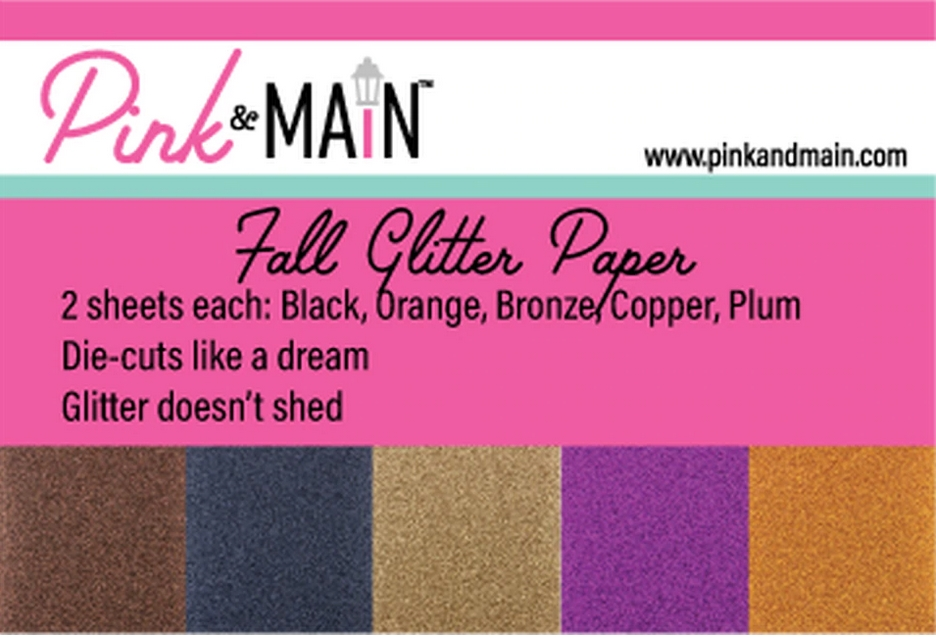 Pink and Main Glitter Paper Fall