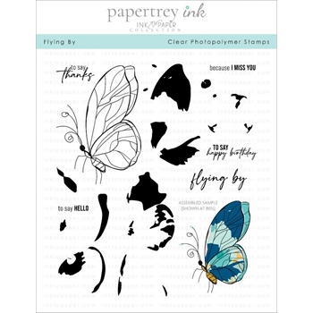 Ink to Paper FLYING BY Clear Stamps 1269