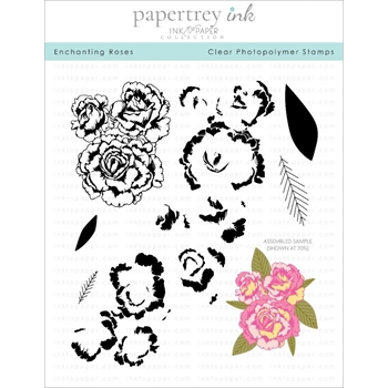 Ink to Paper ENCHANTING ROSES Clear Stamps 1268