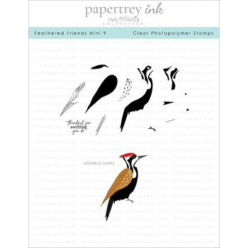 Ink to Paper FEATHERED FRIENDS MINI 9 Clear Stamps 1267