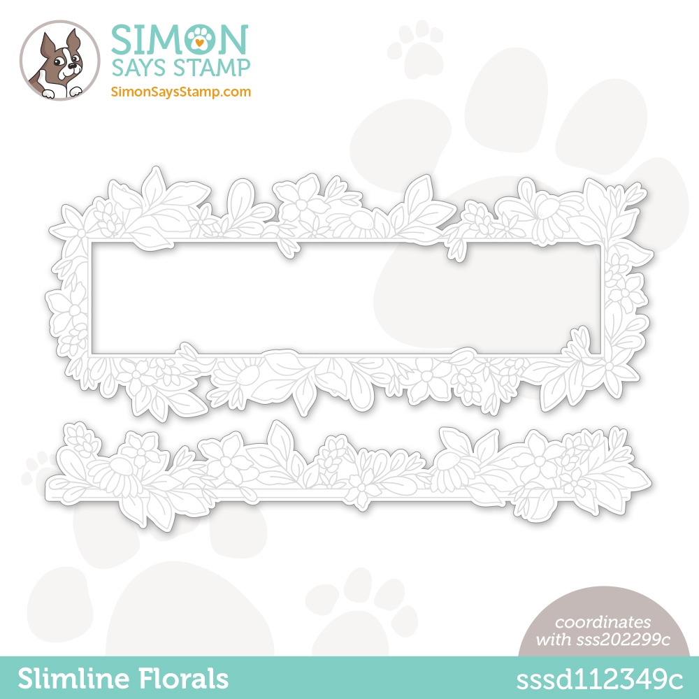 Simon Says Stamp SLIMLINE FLORALS Wafer Dies sssd112349c All The Feels zoom image