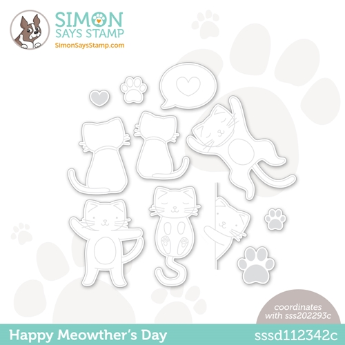 Simon Says Stamp HAPPY MEOWTHERS DAY Wafer Dies sssd112342c All The Feels Preview Image