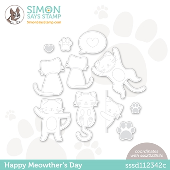 Simon Says Stamp HAPPY MEOWTHERS DAY Wafer Dies sssd112342c All The Feels
