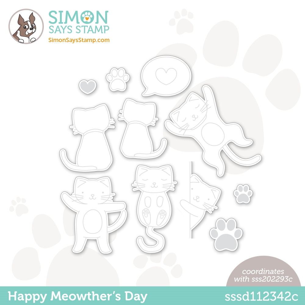 Simon Says Stamp HAPPY MEOWTHERS DAY Wafer Dies sssd112342c All The Feels zoom image