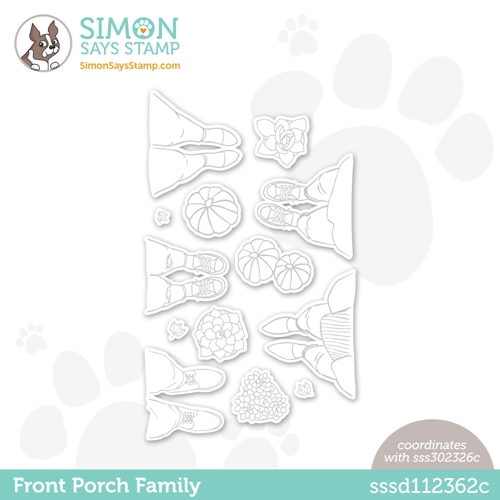 Simon Says Stamp FRONT PORCH FAMILY Wafer Dies sssd112362c All The Feels Preview Image