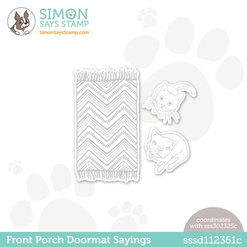 Simon Says Stamp FRONT PORCH DOORMAT SAYINGS Wafer Dies sssd112361c All The Feels Preview Image