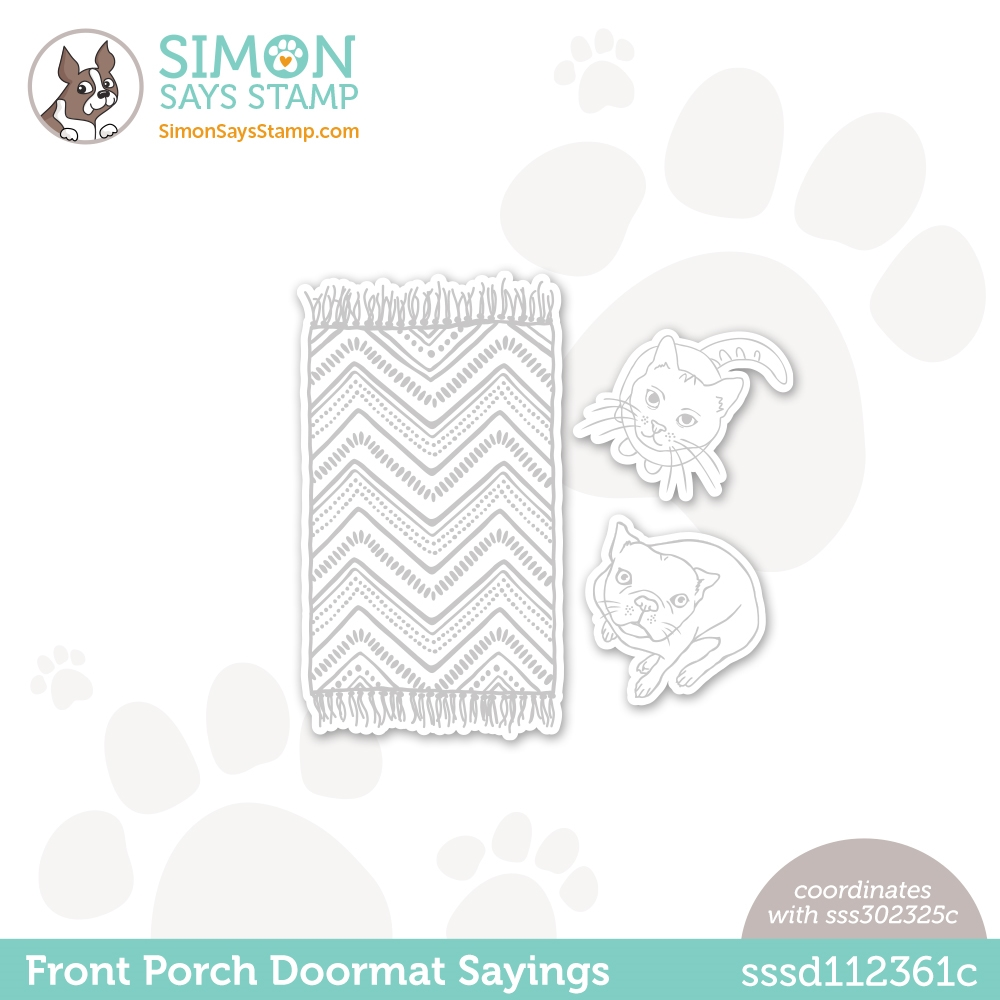 Simon Says Stamp FRONT PORCH DOORMAT SAYINGS Wafer Dies sssd112361c All The Feels zoom image