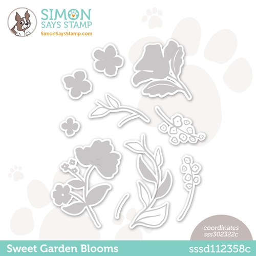 Simon Says Stamp SWEET GARDEN BLOOMS Wafer Dies sssd112358c All The Feels Preview Image