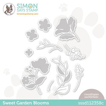 Simon Says Stamp SWEET GARDEN BLOOMS Wafer Dies sssd112358c All The Feels