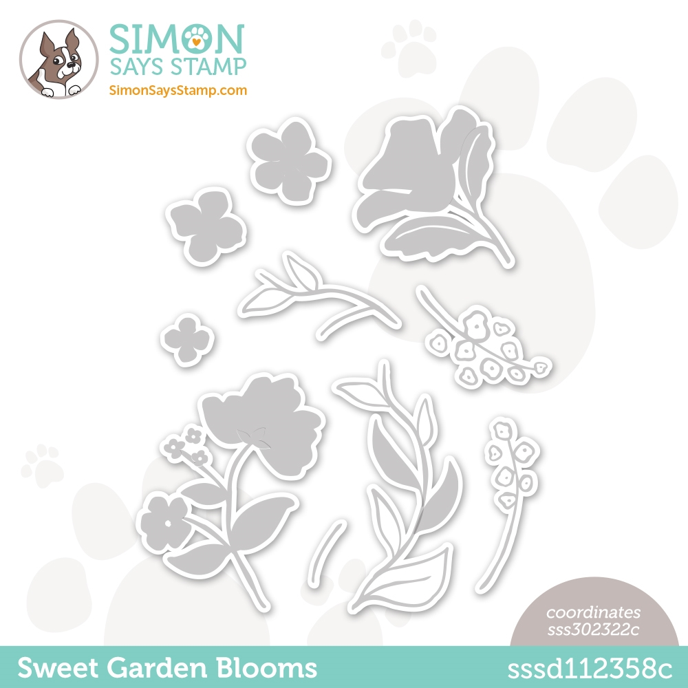 Simon Says Stamp SWEET GARDEN BLOOMS Wafer Dies sssd112358c All The Feels zoom image