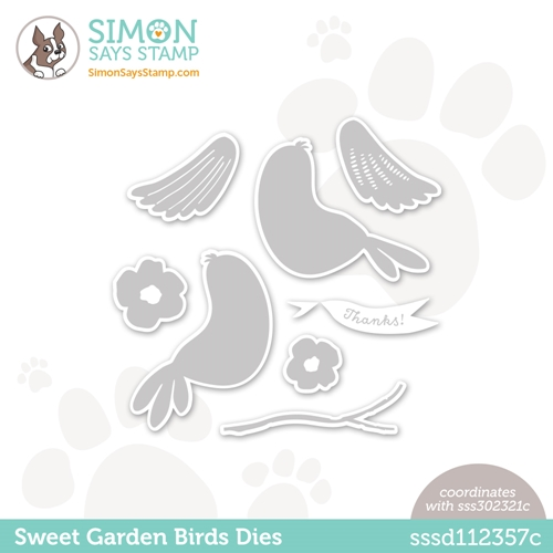 Simon Says Stamp SWEET GARDEN BIRDS Wafer Dies sssd112357c All The Feels Preview Image
