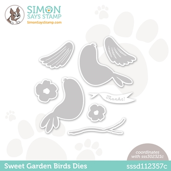 Simon Says Stamp SWEET GARDEN BIRDS Wafer Dies sssd112357c All The Feels