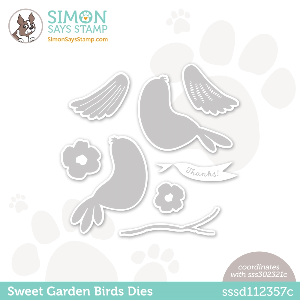 Simon Says Stamp SWEET GARDEN BIRDS Wafer Dies sssd112357c All The Feels zoom image