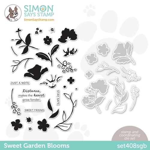 Simon Says Stamps and Dies SWEET GARDEN BLOOMS set408sgb All The Feels Preview Image